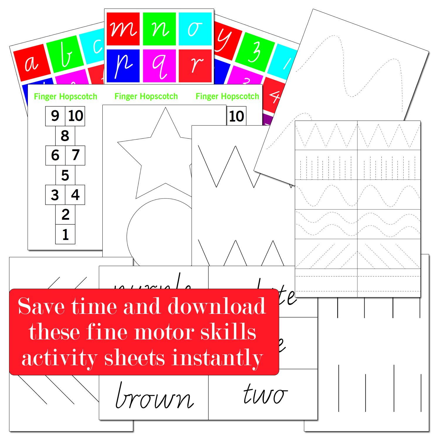 Fine Motor Printables Sight Word Printables Prewriting