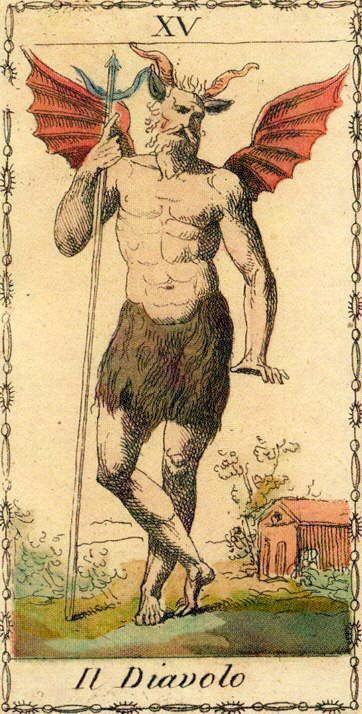 The Devil - Ancient Tarot of Lombardy