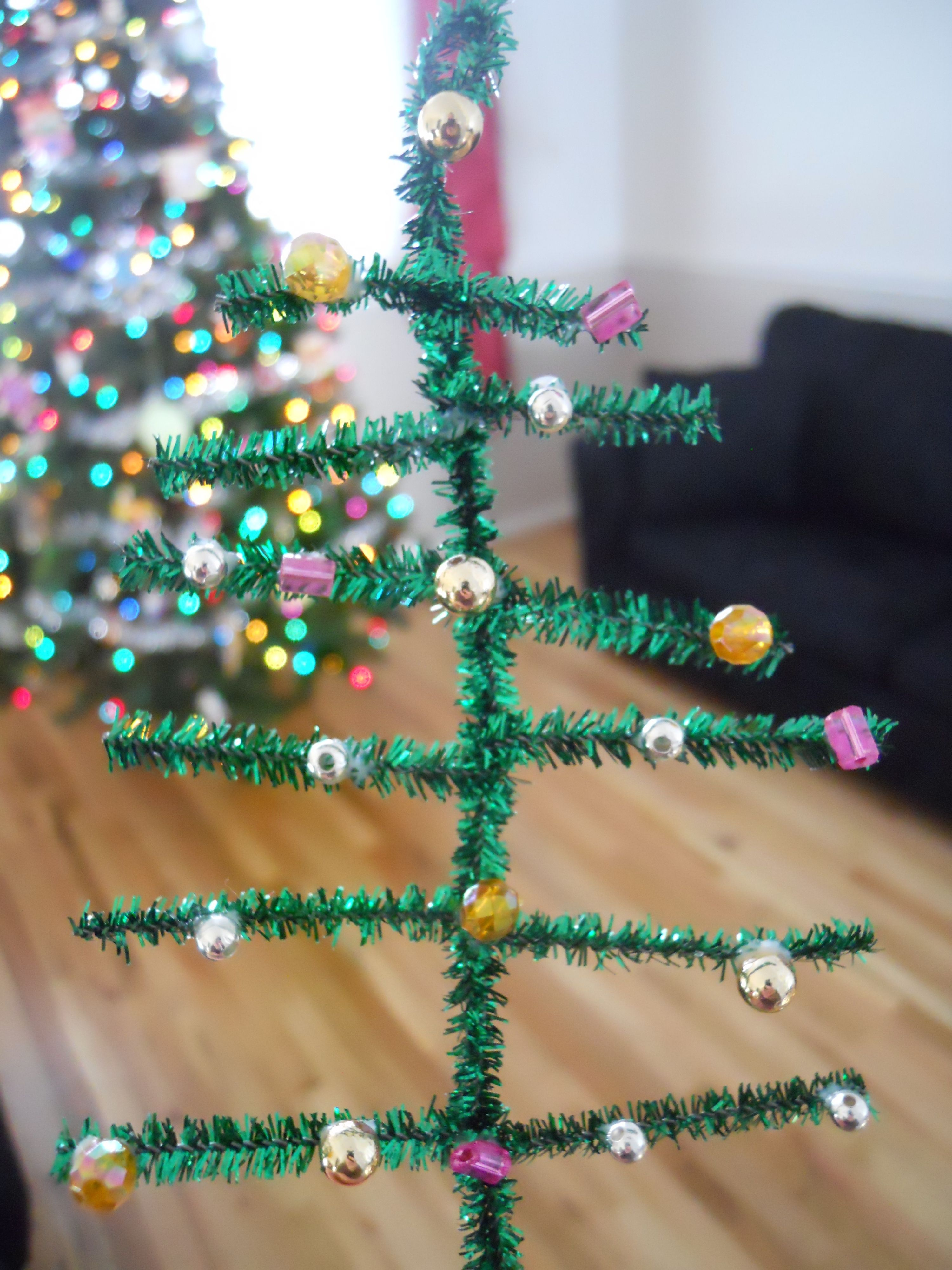 Pipe Cleaner Xmas Tree Kid Crafts Pinterest