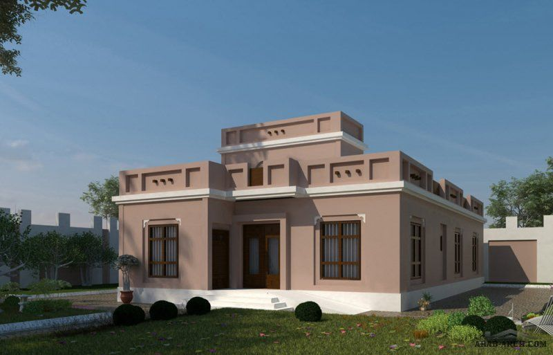 مخطط منزل طابق واحد 2 غرفة نوم 230 متر خليجى التصميم House House Styles Home