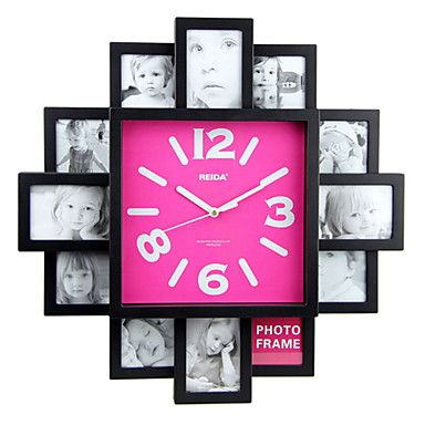 Wall Clock with Fashion Picture Frame Function Design | Pinterest ...