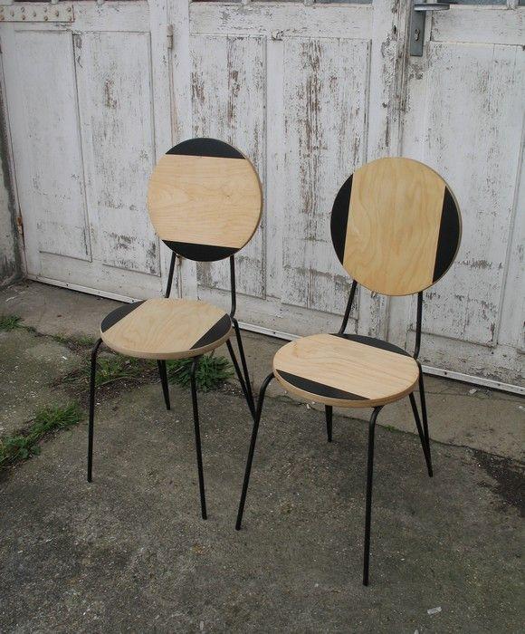 Chaise déco design avec un tabouret frosta bidouilles ikea