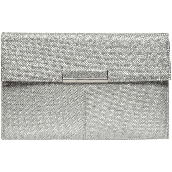 Dorothy Perkins Silver Nisco Tab Clutch Bag 12 Liked On Polyvore Featuring Bags
