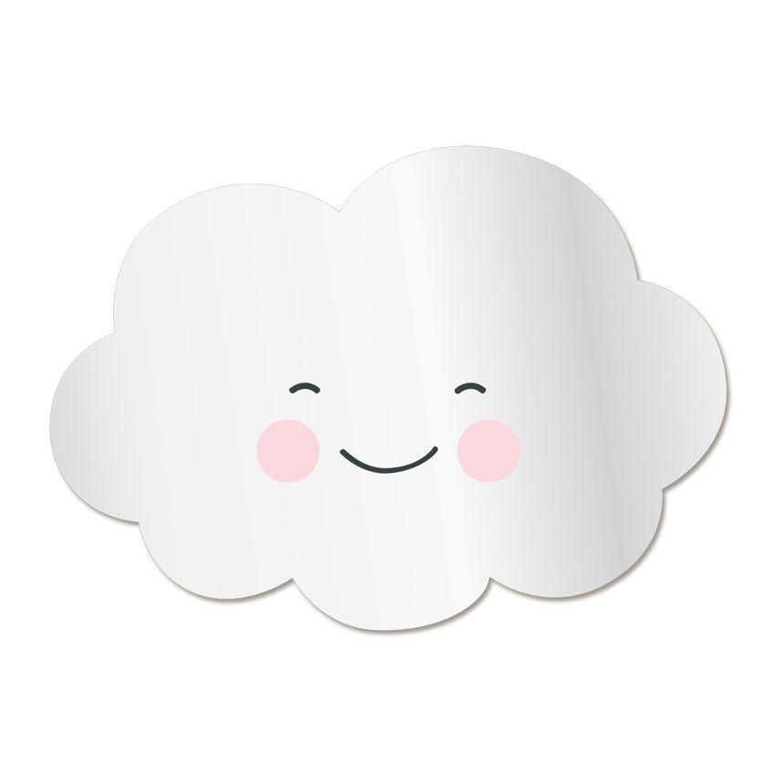 Miroir enfant nuage sourire miroir pour enfant miroir Deco chambre bebe nuage