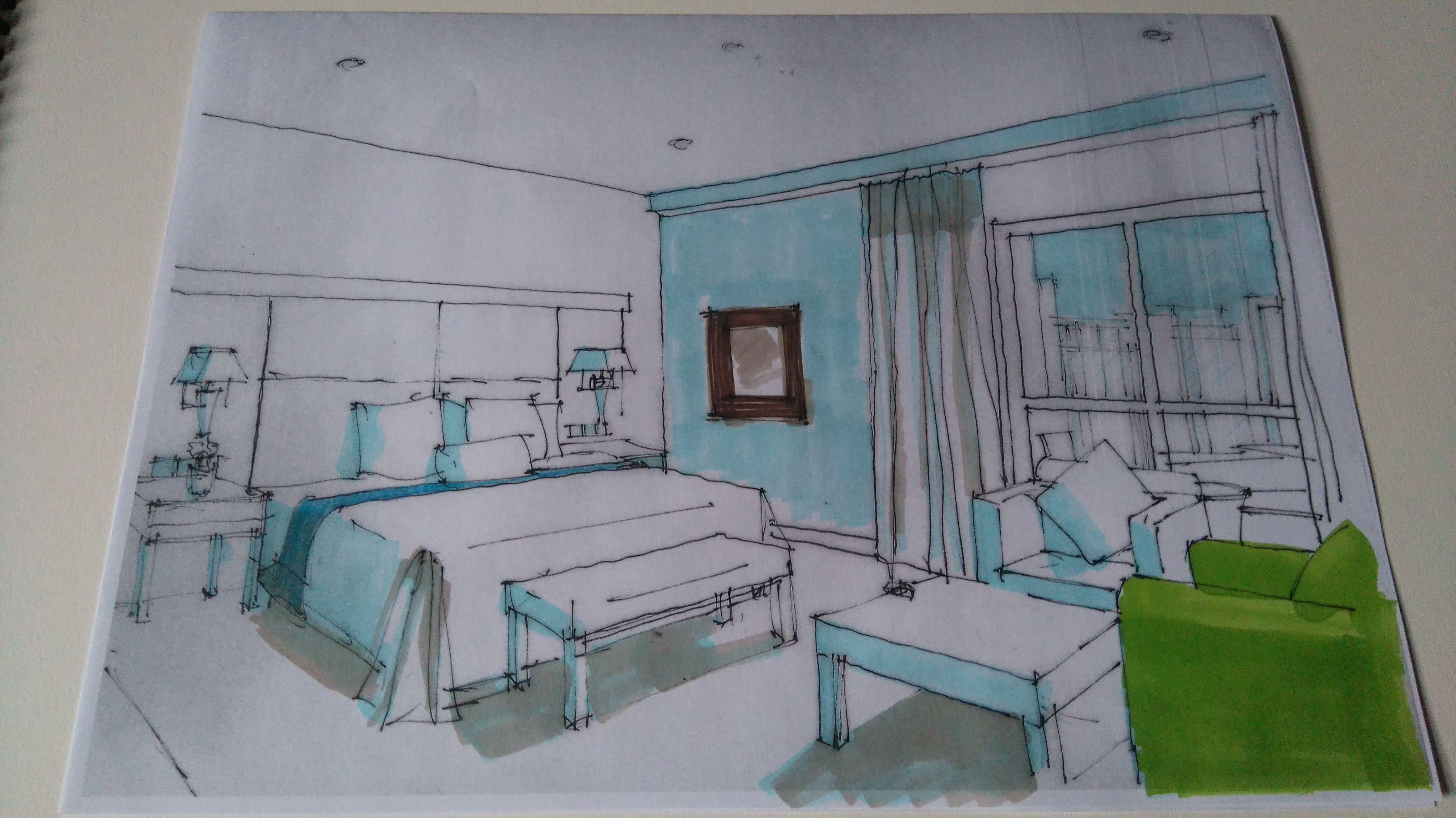 Kurecolor rendering interior sketches Pinterest