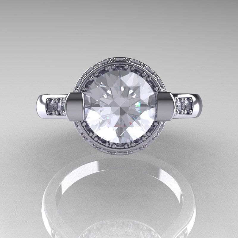 How Often Are You Gonna Find Another Woman With Your Ring If It's This One?!!!   Italian Bridal 950 Platinum 1.5 Carat CZ Diamond Wedding Ring AR119-PLATDCZ. $2,249.00, via Etsy.