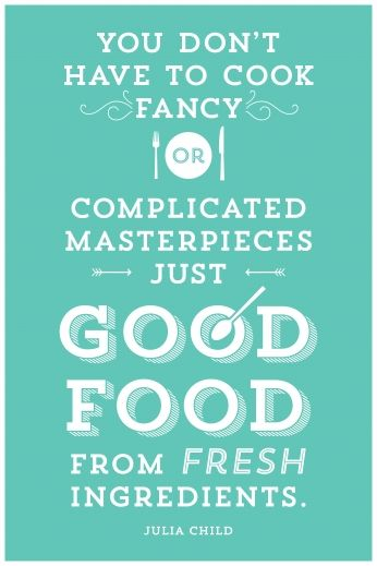 poster good food from fresh