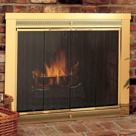 Classic Fireplace Glass Door #LearnShopEnjoy