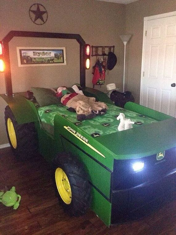 John Deere Tractor Bed Plans And Photos By Fordranch On Etsy - John deere idees de decoration de chambre