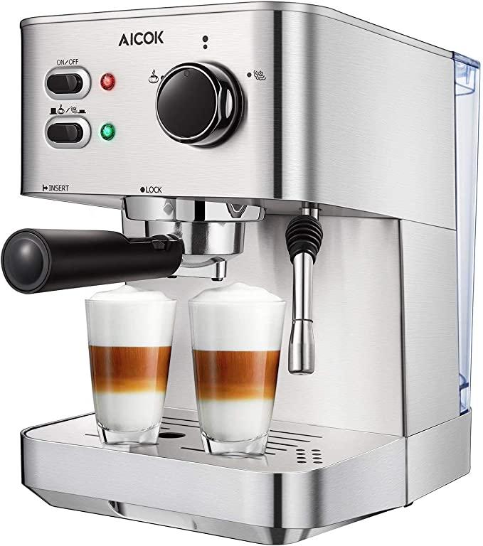 Aicok Espresso Machine, 15 Bar Espresso and Cappuccino