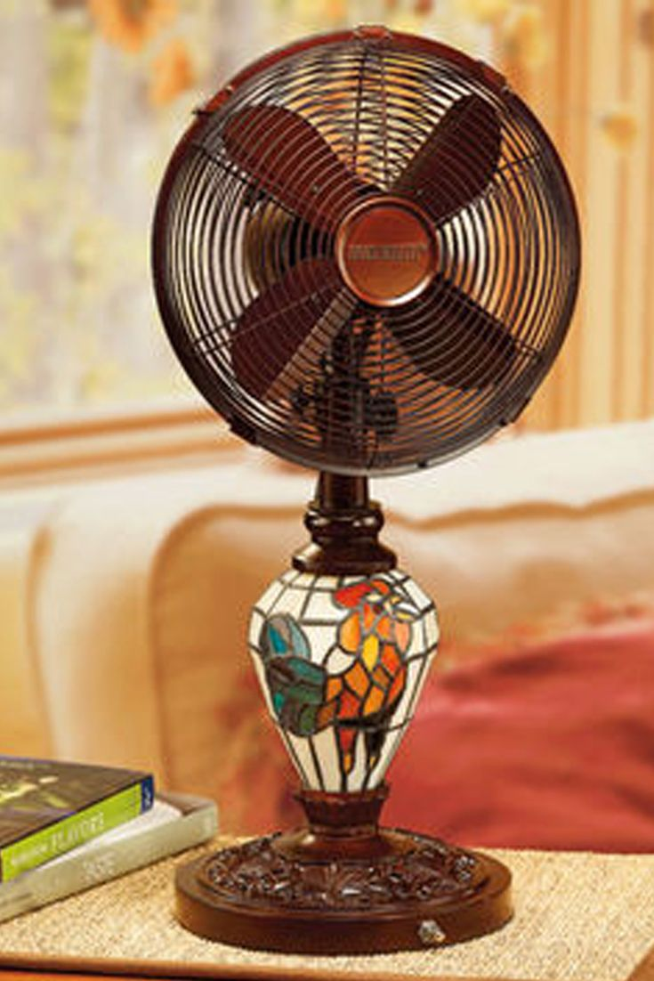 Deco Breeze Mosaic Glass Table Top Fan Decorative And Functional Oscillating Fan With A Whisper Quiet 30 Watt Motor Three S Fan Decoration Mosaic Glass Mosaic