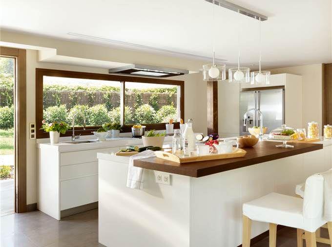 Tres cocinas amplias, luminosas y frescas   habitacion   Pinterest ...