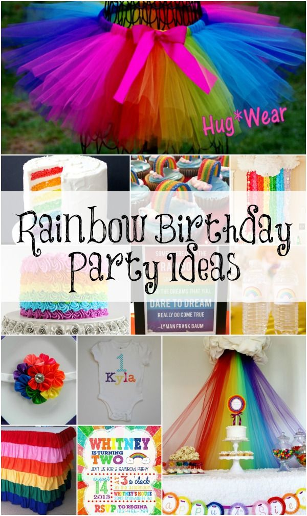 Rainbow Birthday Party Ideas Kyla Pinterest Rainbow birthday