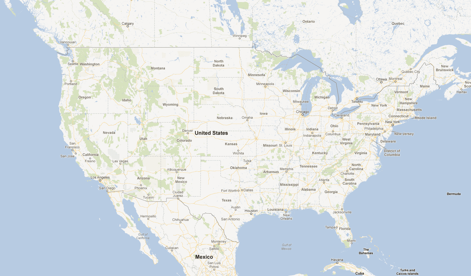 Google Map Of The United States | Google USA English United ...
