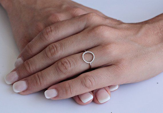 Women/'s Fine band 11mm 14K Yellow Gold Double Sideway Cross Knuckle Ring