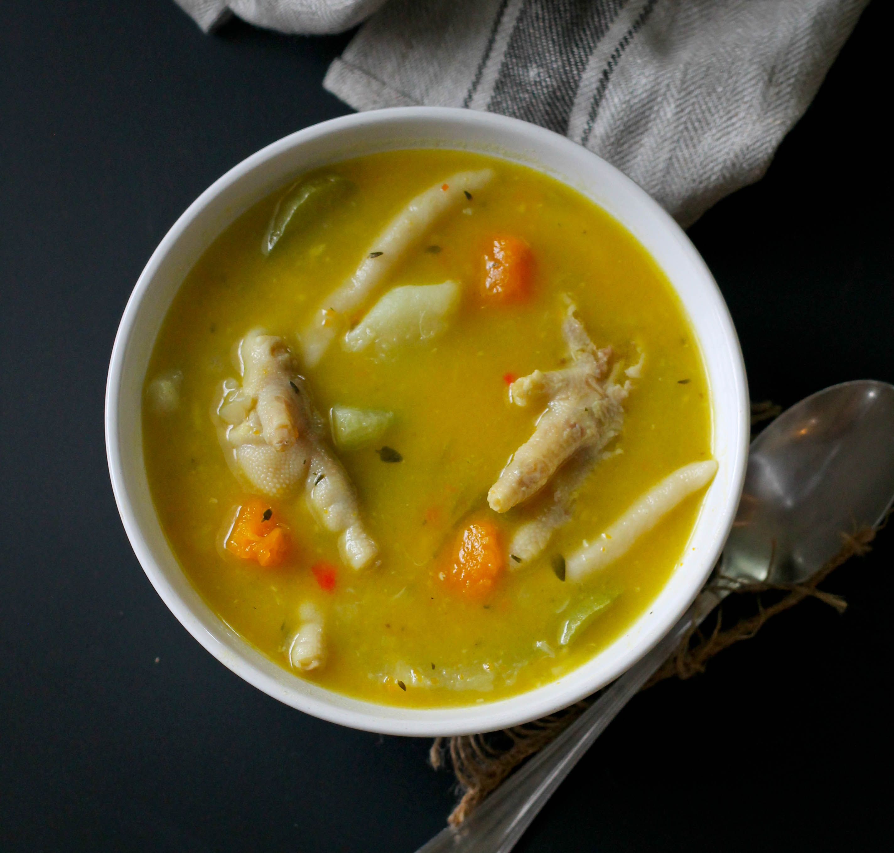 chicken foot soup  recipe  jamaican dishes jamaican