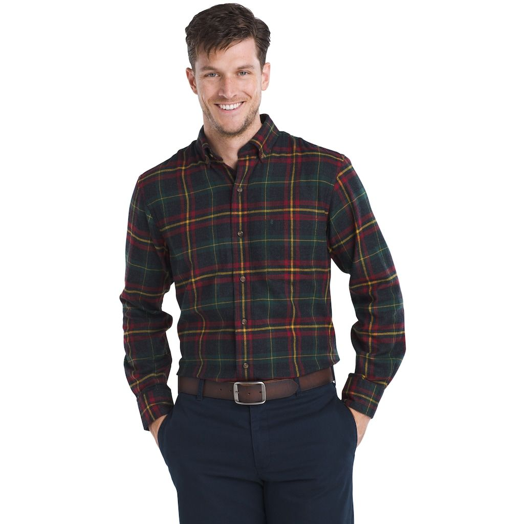 Flannel shirts at kohl's  Menus IZOD RegularFit Plaid Flannel EasyCare ButtonDown Shirt