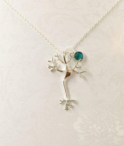 Neuron Necklace with Swarovski Birthstone
