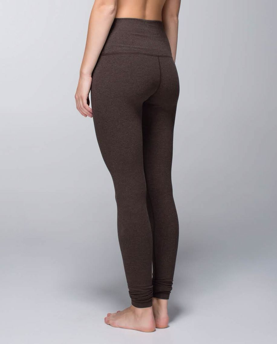6eda628a71 Lululemon Wunder Under Pant*Cotton Roll Down Heathered Bark Chocolate There  is nothing, nothing more comfortable in the world than these pants. That is  all.