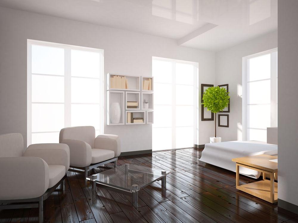 Ook houten vloeren in uw woonkamer kunnen makkelijk overgeschilderd ...