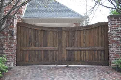 Gate ideas wooden driveway gates driveway sliding gate for Wooden driveway gate plans