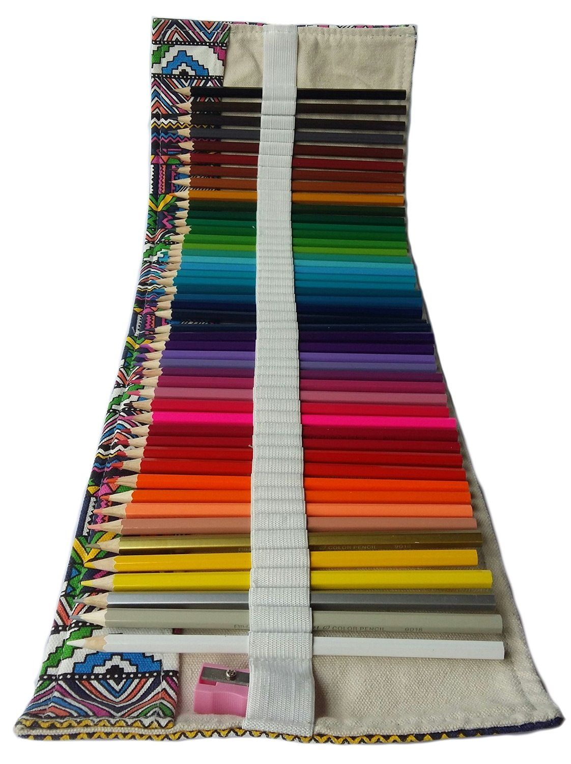 Amazon.com: Colored Pencils 48 for Adults Kids with Canvas Wrap ...