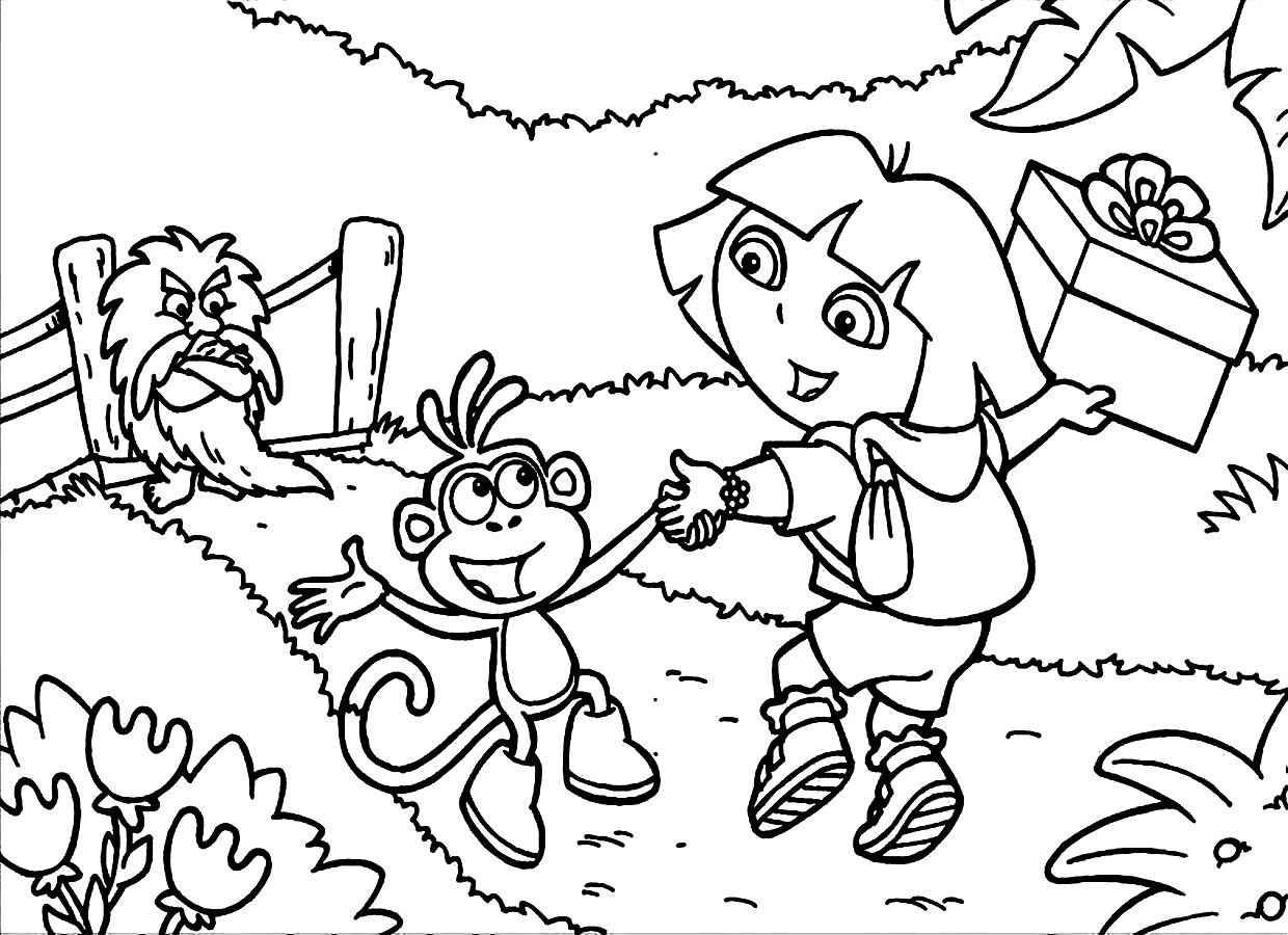 Pin by Tri Putri on 8 Dora The Explorers Coloring Pages | Pinterest ...