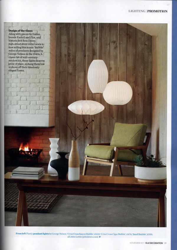 Elle decoration uk edition adds george nelson bubble lamps to their elle decoration uk edition adds george nelson bubble lamps to their special lighting issue calling them design of the times modernica blog aloadofball Image collections