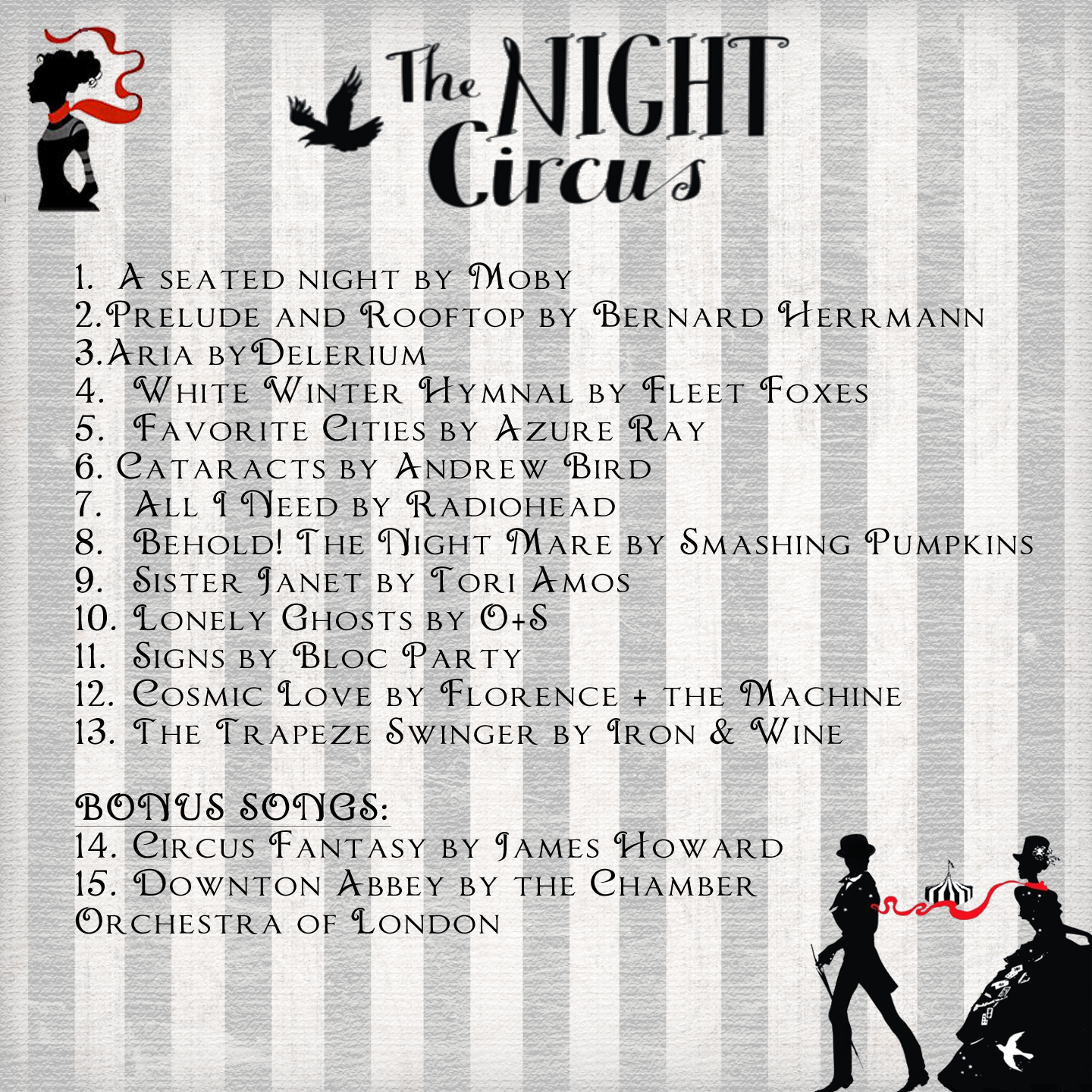 I am not in charge of music...but here is another person\'s Night ...