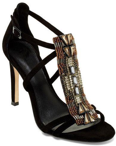 Vince Camuto Roselle Black Embellished Sandal High Heels