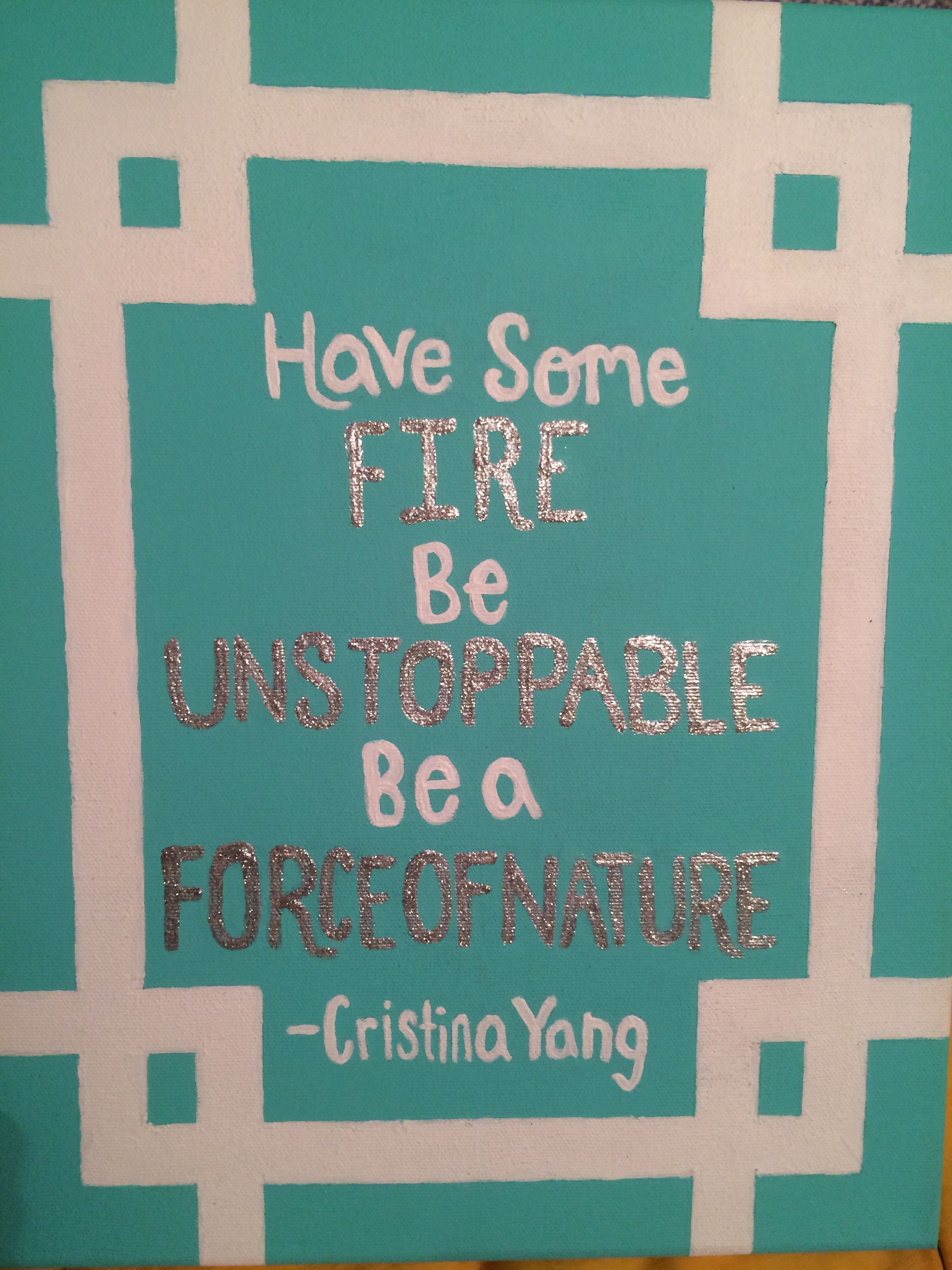 Greys Anatomy Quote Canvas By Cristina Yang