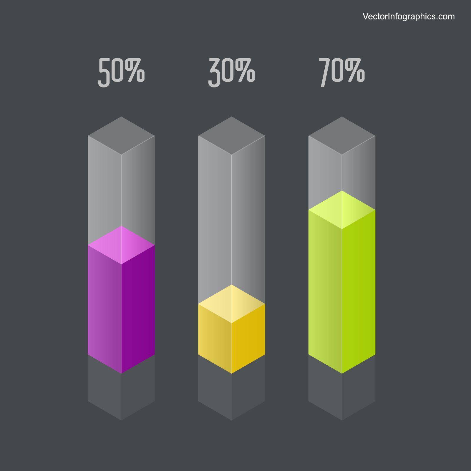 Transparent Infographics Bar Graph Free Vector