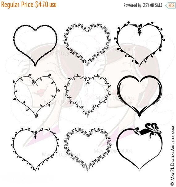 Valentines Heart Svg Frames Love Frame Vector Clip Art Also Etsy In 2021 Clip Art Frame Clipart Card Making Birthday