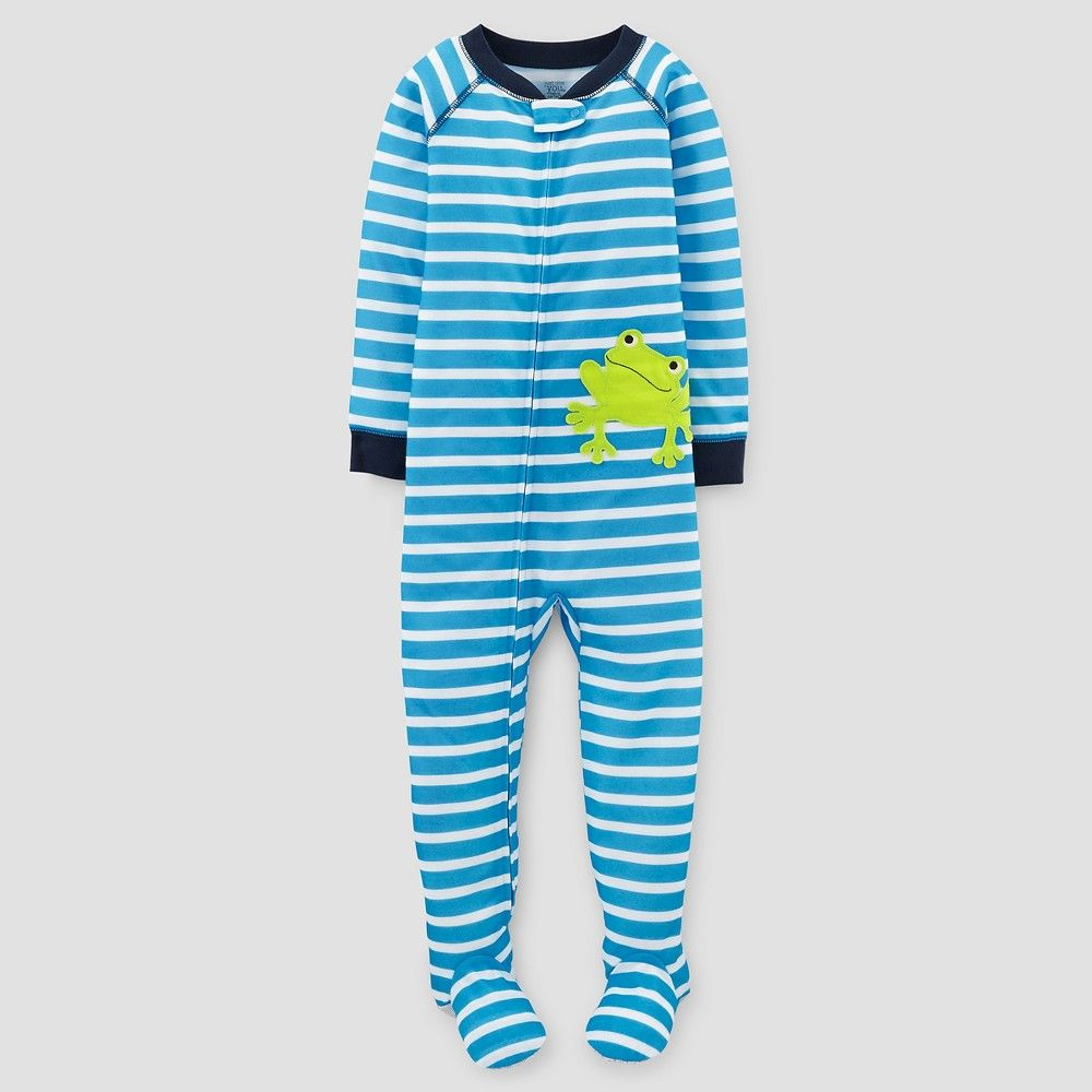 Toddler boysu onepiece jersey pajama frog t just one you made by