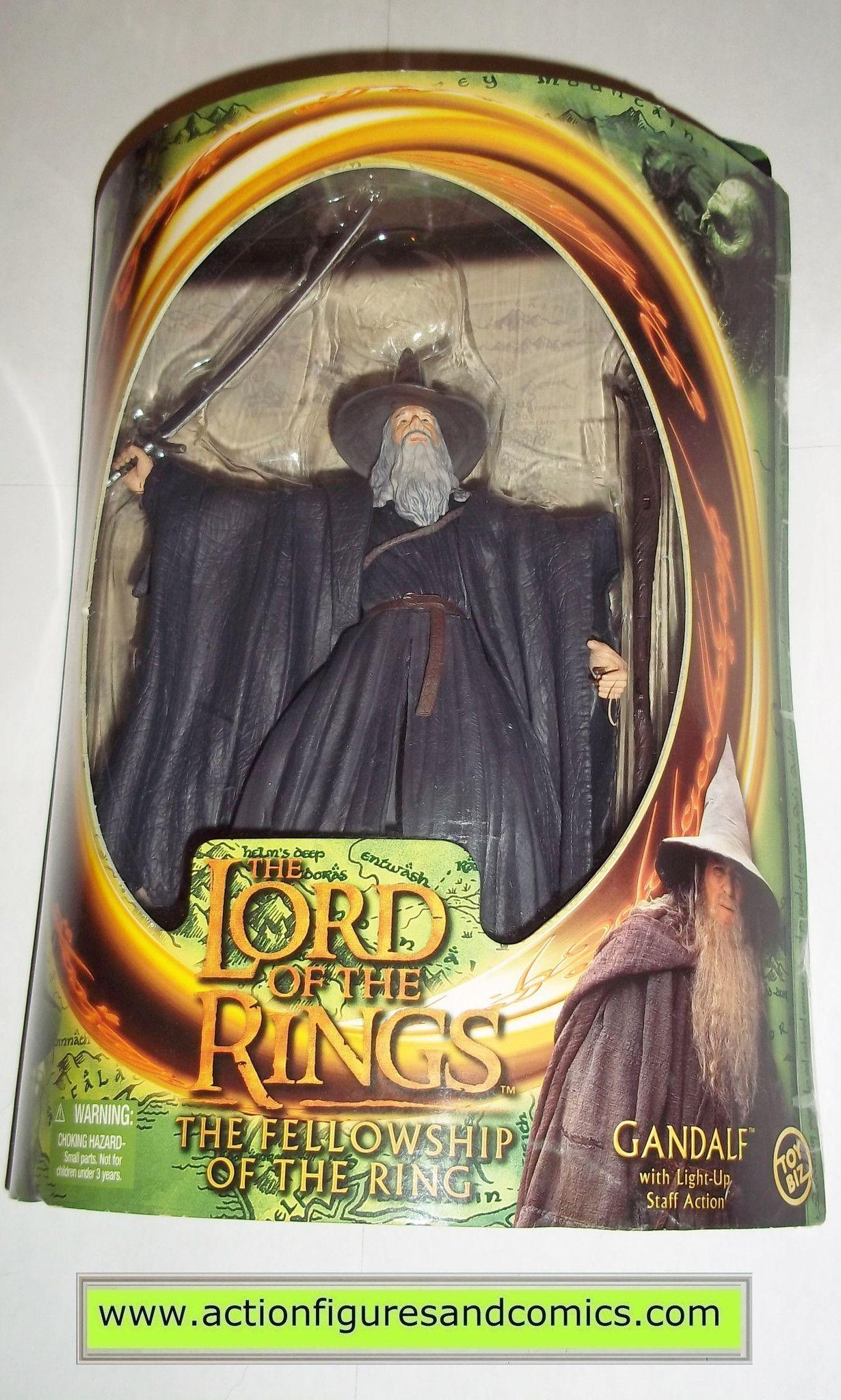 Lord of the rings gandalf the grey gray toy biz hobbit movie action figures mib moc mip - Groayes glas weihnachtlich dekorieren ...