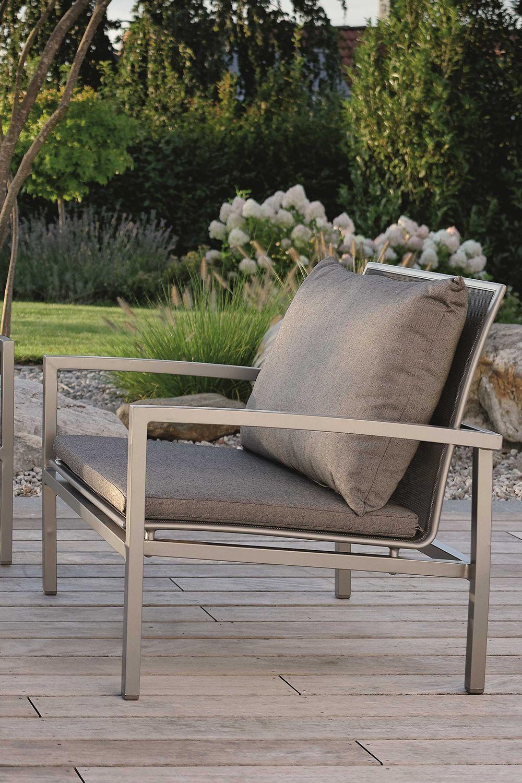 Die Lounge Skelby Von Stern In Graphitfarbenem Aluminium Mit
