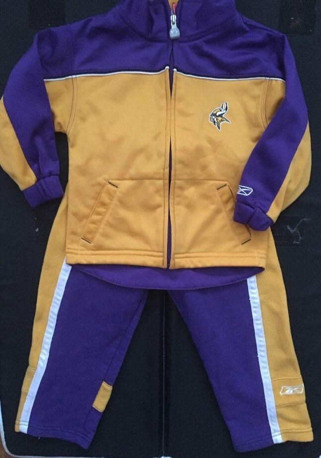 Toddler 3T Minnesota Vikings Gold Purple Off-Field T-Shirt and Pant Set  de357395e