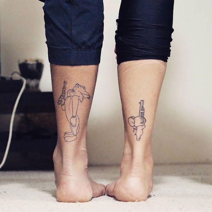 40 Tatuagens de namorados e amigos que são tão apaixonantes quanto cri