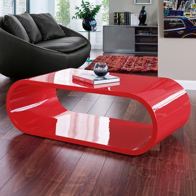 oval red coffee table coffee table