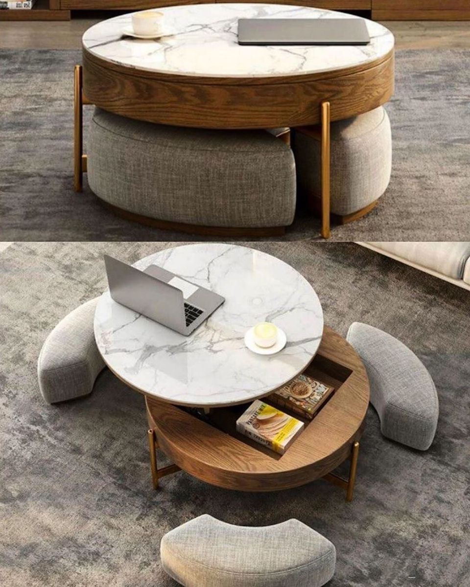 Pin By Wouter Vermunt On Loose Furniture Coffee Table Coffee Table With Seating Stylish Coffee Table