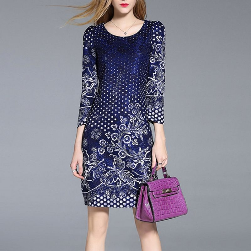 >> Click to Buy << Europe Fashion Dress 2017 Spring Summer stylish Slim Women's OL office dress High quality Print Embrie Celebrity Robes #Affiliate