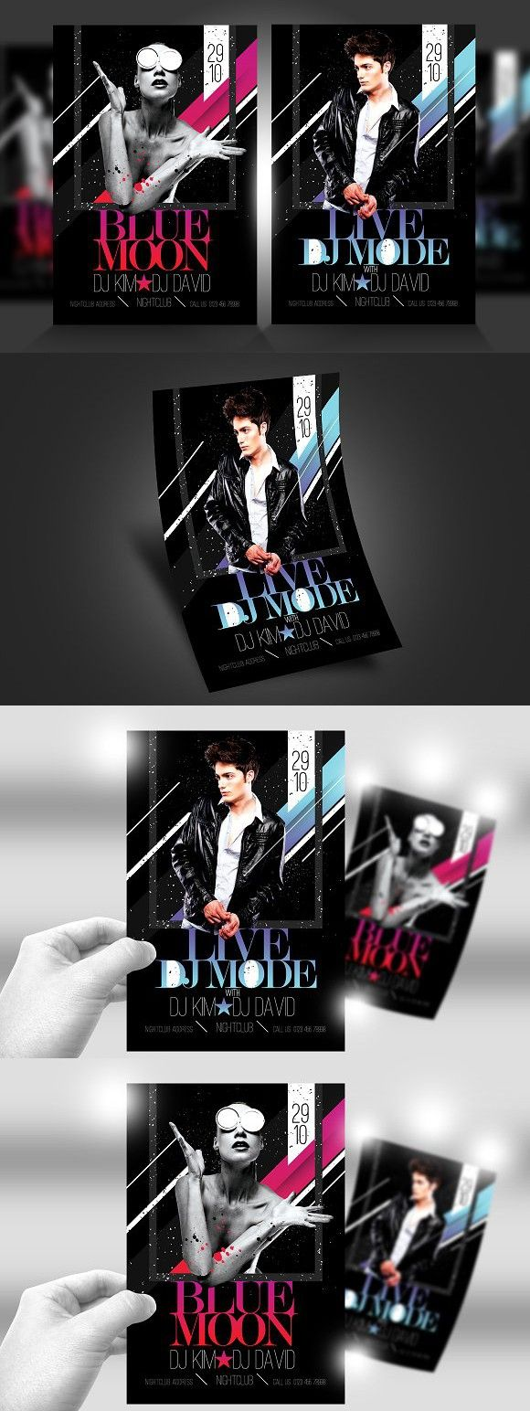 Live DJ Flyer Template PSD V1 | Flyer template, Template and Fonts