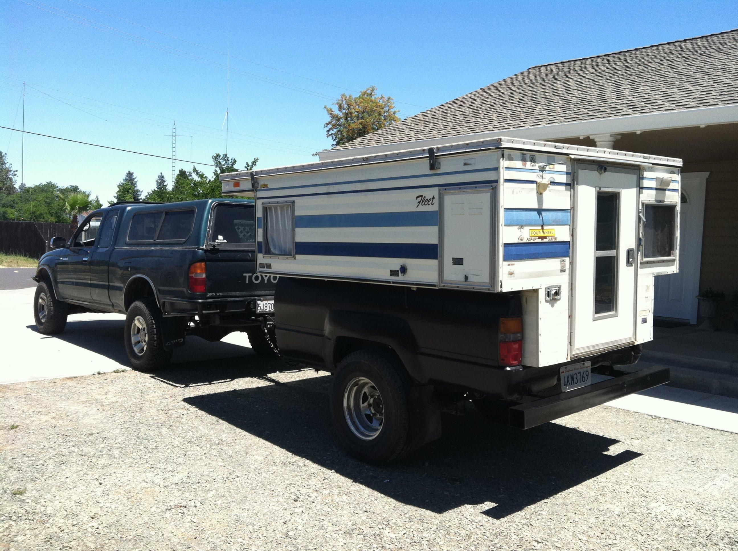 Four Wheel Camper On A Truck Bed Trailer From Here Http Www