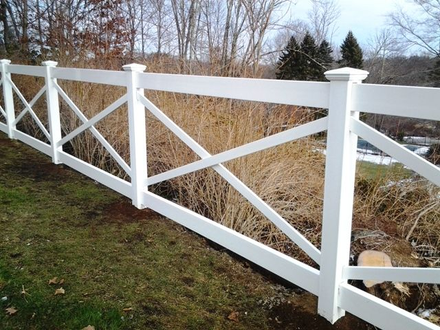 Vinyl cross buck post and rail fence pinterest