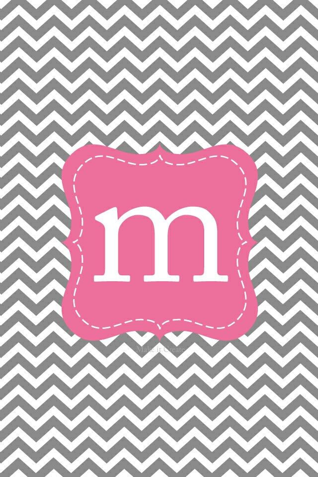 Nursery Letter Design Wallpaper Iphone Cute Monogram Backgrounds Monogram Wallpaper