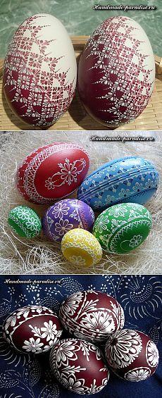 Роспись пасхальных яиц горячим воском - Handmade-Paradise ...
