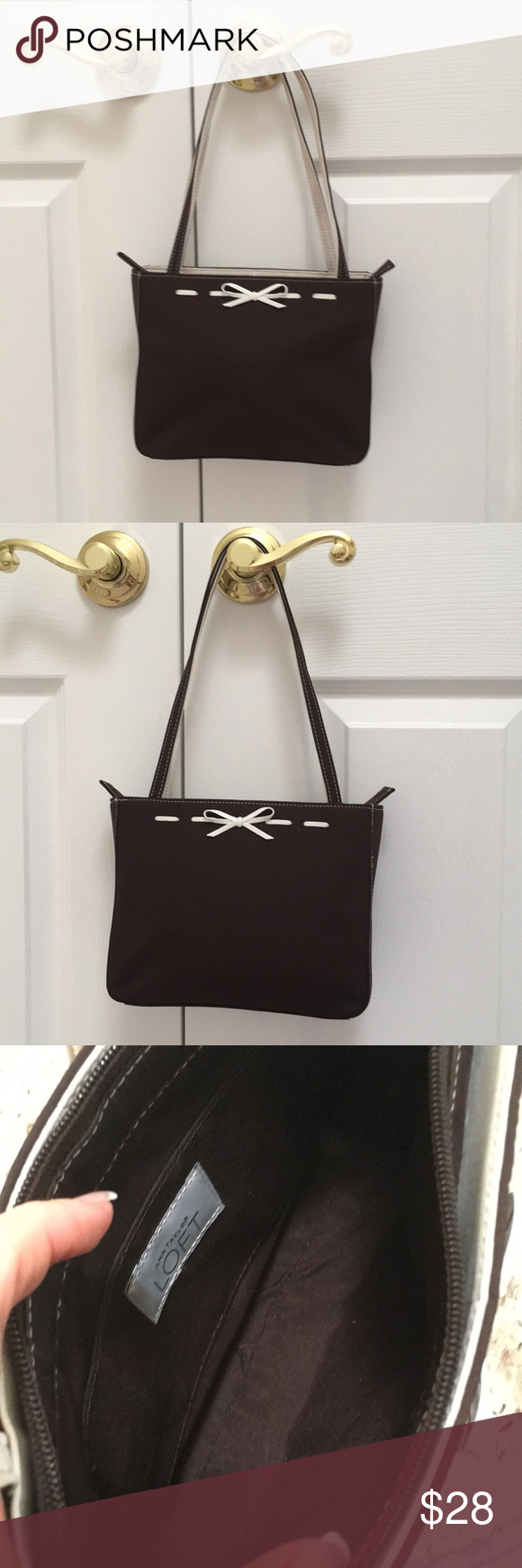 Ann Taylor Loft Purse Small Very Cute With White Bows On
