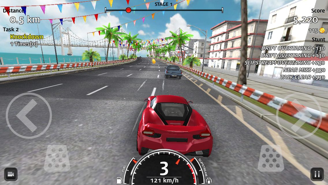 """rush horizon"" ios mobile arcade endless racing game"