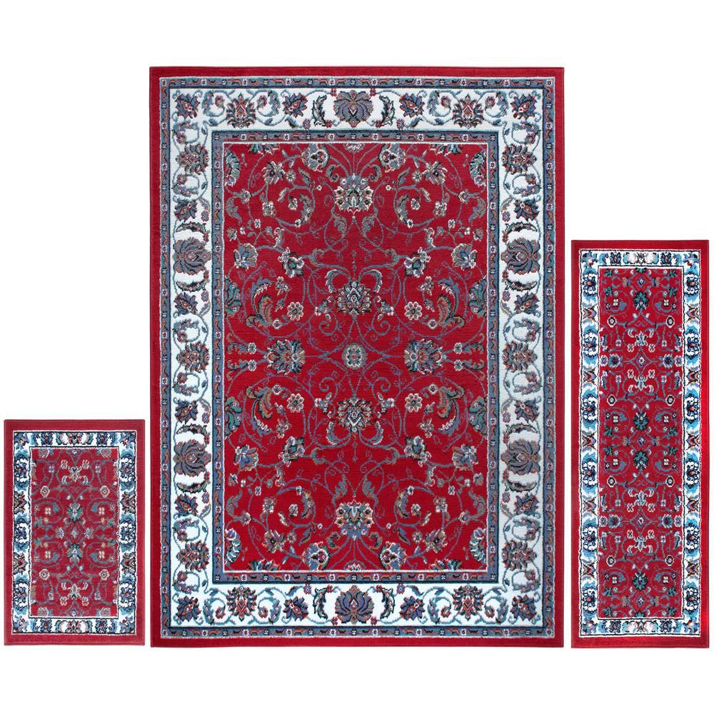 Home Dynamix Ariana Red Ivory 5 Ft X 7