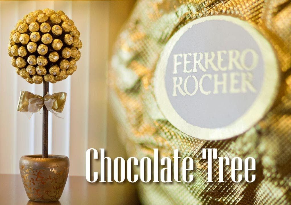 How To Make A Ferrero Rocher Chocolate Tree Youtube Candy